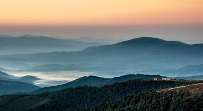 Рассвет на Боржаве Горы Карпаты Рассвет