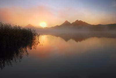 Утро Октября Утро рассвет октябрь