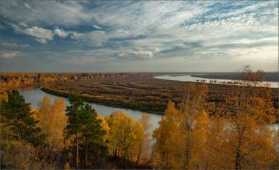 Осенняя... осень река томь