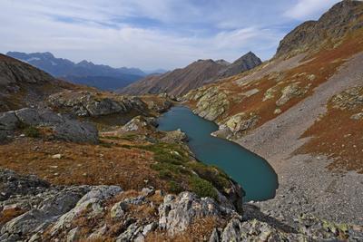 Озеро Синеокое Осень Кавказ