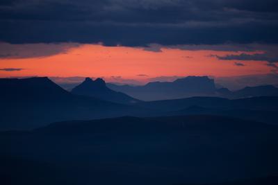 Северный Кавказ на рассвете рассвет кавказ горы