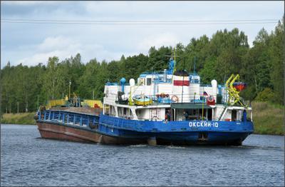 Окский 10 Теплоход Окский канал им Москвы