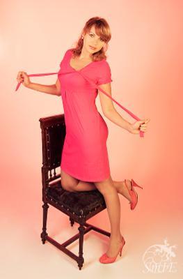 * девушка, красивое, розовое, коралловое, платье