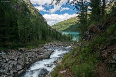 К озеру Горы Алтай Шавло озеро небо река