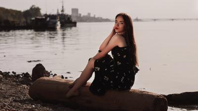 *** девушка портрет город пейзаж