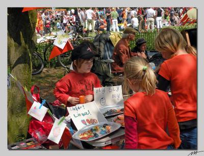 День Королевы (5) День, королева, роджение, оранжевый, праздник, Амстердам, Голландия, Нидерланды, Vondelpark