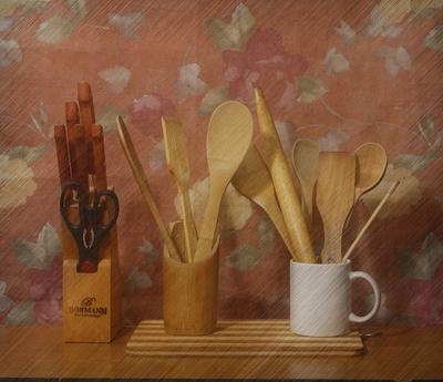 Кухонная утварь. Этюд утварь кухня наборы