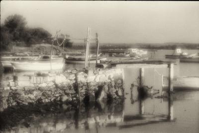 Утреннее лодки море Хорватия монокль пленка