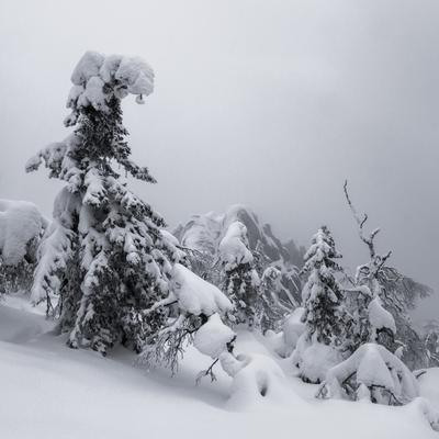 Когда небо давит на плечи Зима Таганай Южный Урал