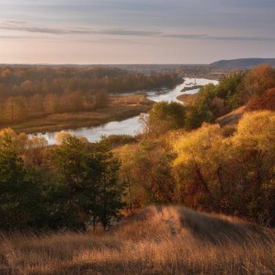 Осенний рассвет на реке Воронеж рамонь 2020 осень октябрь