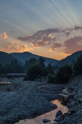 Утренний Цусхвадж утро горы река Цусхвадж Сочи Кавказ рассвет природа