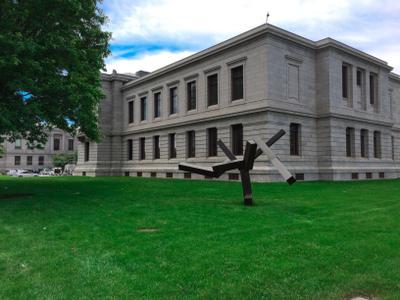 Museum of Fine Arts, Boston, MA музей бостон газон зелень америка сша искусство здание облака небо природа