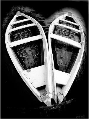 б/н лодки, сердечко