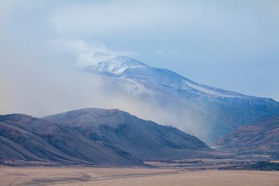 Завтра был снег, или в ожидании непогоды Алтай республика горный закат тучи Чуйский тракт непогода