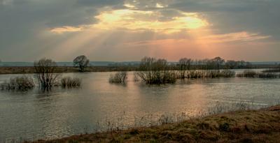 Закат. Национальный парк Угра. Калужская обл. закат река солнце лучи