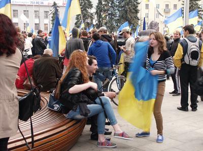 Харьковская весна 2014 Весна Украина молодежь