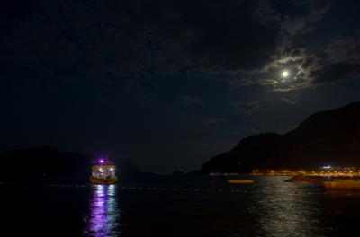 Ночь в Ичмелере Ичмелер Турция ночь Луна море отпуск облака лето