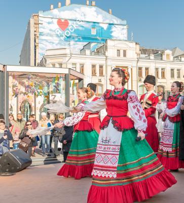 Пасхальные гуляния пасха весна хор казачий костюмы выступление песни танцы