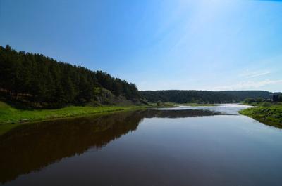 Солнечный день природа вода пейзаж река