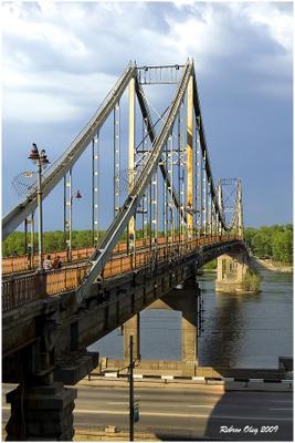 Линии №19 Киев парковый мост геометрия города