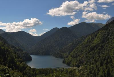 Озеро Рица озеро горы Кавказ