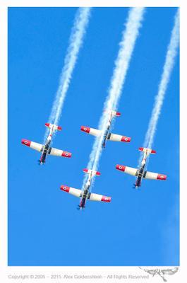 Показательное выступление ВВС Израиля. ВВС Т-6А Texan II день независимости Израиля Авиашоу небо Израиль самолет