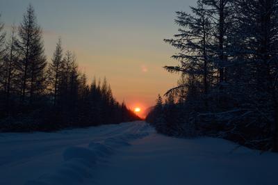 Восход. Зимний восход