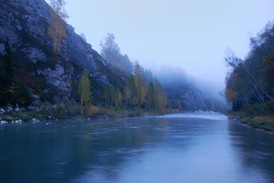 Утро в тумане... Утро туман река