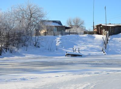 У зимнего пруда зима пруд