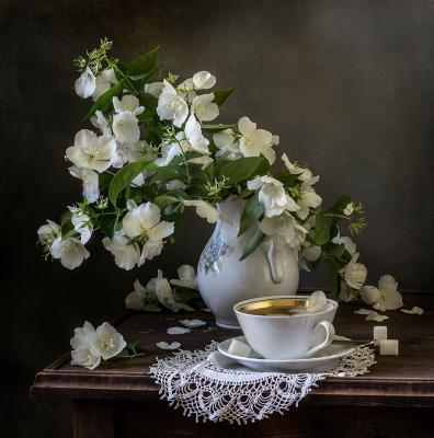Чай с жасмином натюрморт still life