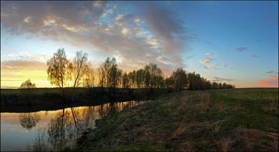 """""""Победный"""" закат... Подмосковье вечер закат май панорама"""