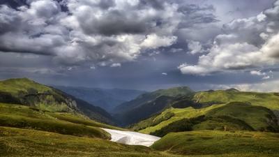 Черногория пейзаж осень горы небо снег