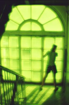 монождать подъезд монокль зелёное