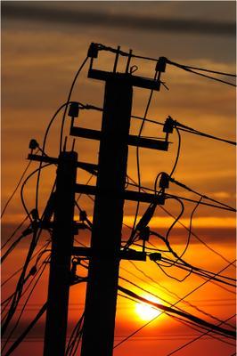 электричество на закате