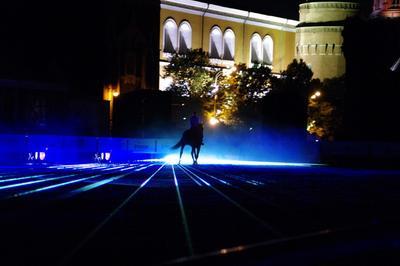 Конно-музыкально-лазерное шоу на Красной площади