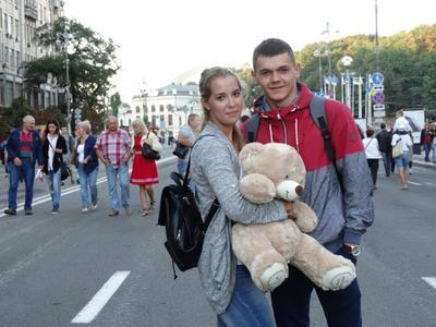 На празднике Украина День Независимости Портрет Люди Улица Город
