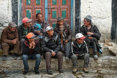 Непальские мужики. nepal Himalaya upper mustang lo mantang people верхний мустанг непал группа