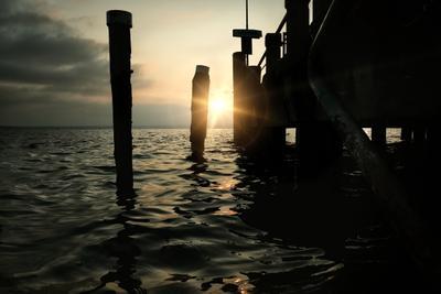 Закат на озере Гарда Италия озеро Гарда Сирмионе пейзаж закат солнце