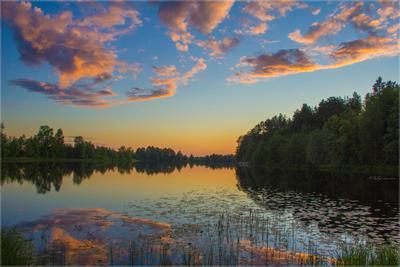 Как упоительны в России вечера... Черное озеро закат вечер Киров
