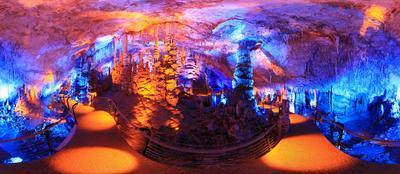 Сталактитовая пещера Сорек . Сталактитовая пещера Круговая панорама