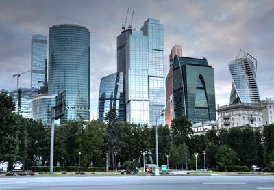 Москва Сити со стороны Кутузовского пр. Москва Сити