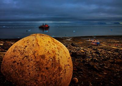 Уникальные конкреции острова Чамп северный полюс, арктика