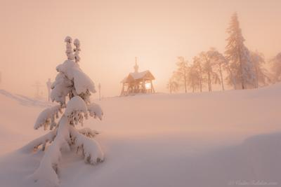 В морозы на Крещение белогорский монастырь пермь зима мороз снег
