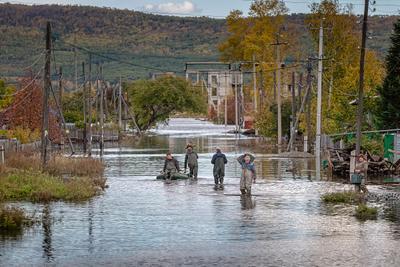 Большая вода Комсомольск-на-Амуре наводнение