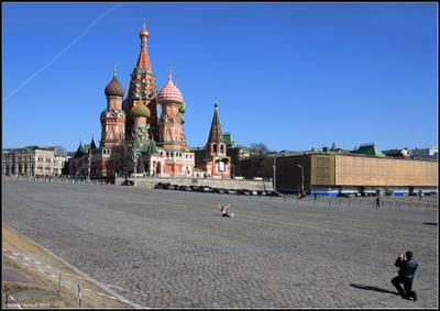 Фотография на память Москва Красная площадь весело