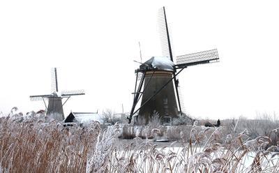 Голландские зимы 4 Kinderdijk Nederland