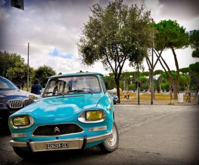 Где-то у обочины жизни Италия, Рим, Европа, путешествия, город, транспорт, Citroen Ami8