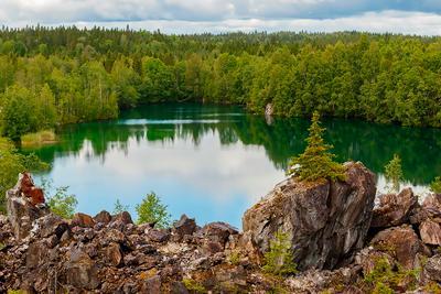 Озеро Светлое !!! пейзаж путешествие озеро Карелия Рускеала горный парк