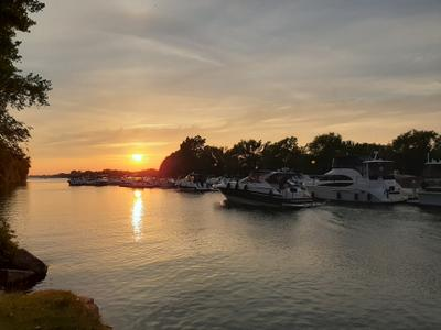 Канал Лашин Монреаль Канада Лодки Вода