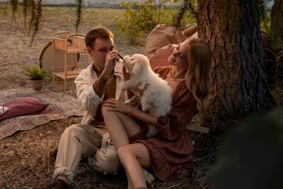*** любовь lovestory пара влюбленный собака